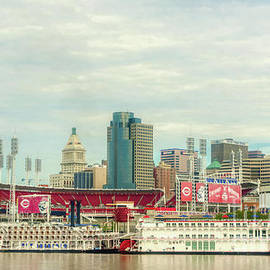 Baseball And Boats In Cincinnati # 2 by Mel Steinhauer
