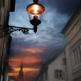 Carol Japp - Basel Switzerland Historic Old Town at Dusk