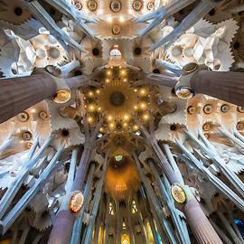 Basiiica de la La Sagrada Familia, Barcelona, Spain by Venetia Featherstone-Witty