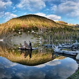 Basin Lake Sunrise by Leland D Howard