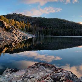 Basin Lake Sunrise Panoramic by Leland D Howard