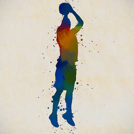 Basketball Player Shooting by Dan Sproul