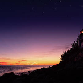 Bass Harbor Day into Night by Jerry Fornarotto