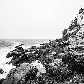 Bass Harbor Head Lighthouse In Winter by Stefan Mazzola