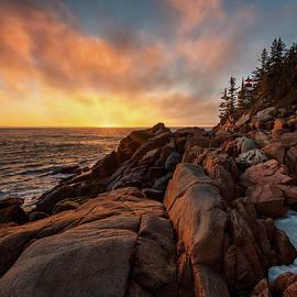 Bass Harbor Lighthouse February by Darylann Leonard Photography