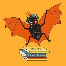 Bat Granny Librarian Book Lover  by Boriana Giormova