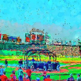 Batting Cage Fenway by John Farr