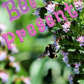 Be Present Greeting Poster Art by Diann Fisher