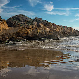 Beach at Altafulla Spain by Joan Carroll