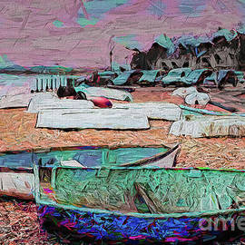 Beach Boats Cars by Jack Torcello