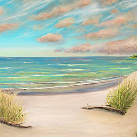 Beach Dunes Oil Painting by Ken Figurski
