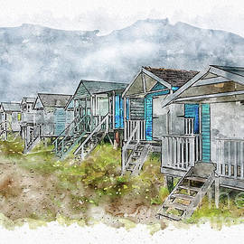 Beach Huts by John Edwards