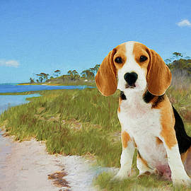 Beagle Puppy at the Cape - Painted by Ericamaxine Price