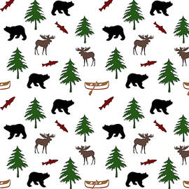 Bear Moose Pattern by Christina Rollo
