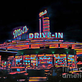 Beautiful Abstract of an Old Fifties Diner by John Malone
