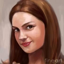 Beautiful Girl Oil Portrait  by Nesrin Gulistan