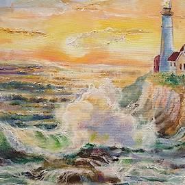 Beautiful Sunrise at Portland Head Lighthouse by Alla Savinkov