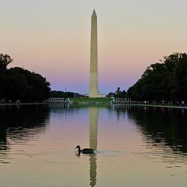 Inspirational Evening at the Washington Monument 1 by Ann Brown