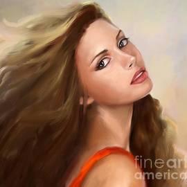 Beautiful Woman Oil Portrait by Nesrin Gulistan