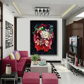 Beauty of a Rose -- Artwork in Situ by Grace Iradian