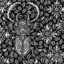 Beetle Botanical Ink 4 by Amy E Fraser