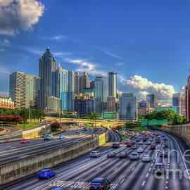 Before 5 Atlanta Sunset Downtown Cityscape Georgia Art by Reid Callaway