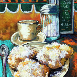 Beignets at Cafe du Monde by Dianne Parks