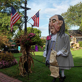 Benjamin Franklin Scarecrow by Denise Harty