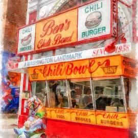 Ben's Chili Bowl Watercolor by Edward Fielding