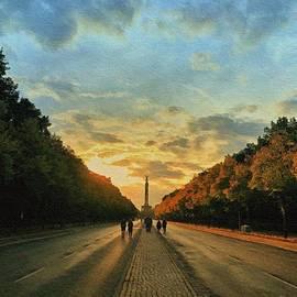 Berlin Sunset by Diana Rajala