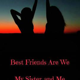 Best Friends are We Silhouette by Marilyn DeBlock