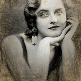 Bette Davis in pencil by Joaquin Abella