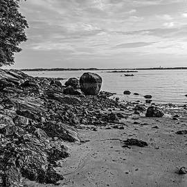 Beverly Ma Rocky Coast Black And White by Toby McGuire