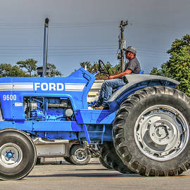 Big Blue Power, Ford 9600 Tractor by J Laughlin