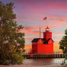 Big Red Lighthouse in Holland, Michigan by Liesl Walsh