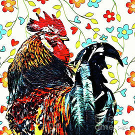 Big Red Rooster by Tina LeCour