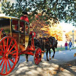 Big Wheels of Colonial Williamsburg, Virginia by Marilyn De Block