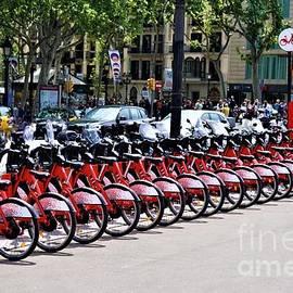 Bikes In Barcelona by Jimmy Clark