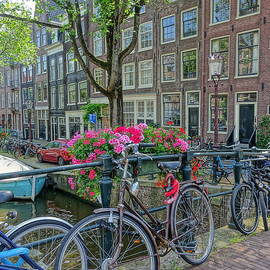 Bikes, Flowers and Canal Homes by Patricia Caron