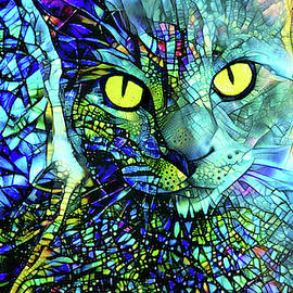 Binx the Stained Glass Cat by Peggy Collins