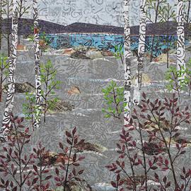 Birches And Snowfall by Janyce Boynton