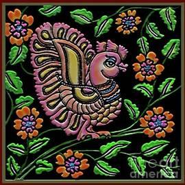Bird-Kalamkari Style by Latha Gokuldas Panicker