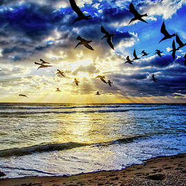 Birds And Beams by Lynn Bauer