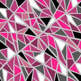Black and Pink Stained Glass by Chante Moody