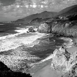 Black And White Big Sur by Paula Guttilla