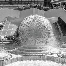 Black and White Fountain Limassol Cyprus Aug-2012 by Tony Hulme