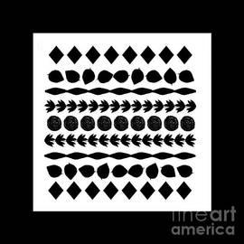 Black Silhouette Motif for Pillows by Delynn Addams