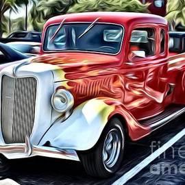 Blazing Truck Hot Rod by Mesa Teresita