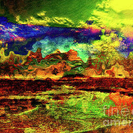 Blended Abstract Art - Pilbara Desert and Seascape by Roy Jacob