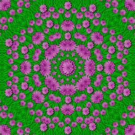 Bloom In Peace And Love Mandala by Pepita Selles